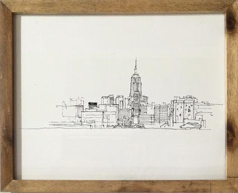 "BrianDrewStudio's "" Manhattan Skyline From Hoboken ."" I mean, can you blame me for this one?!"