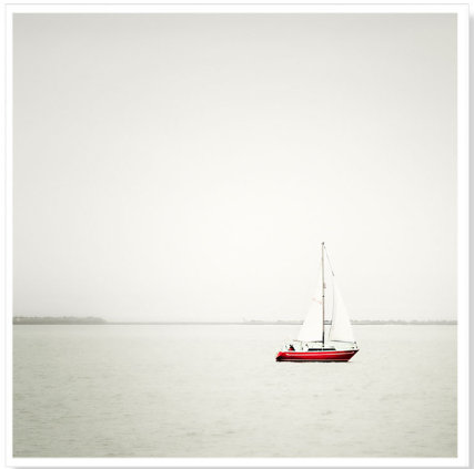 "Maggy Morrissey's ""Red Sailboat"" photograph."