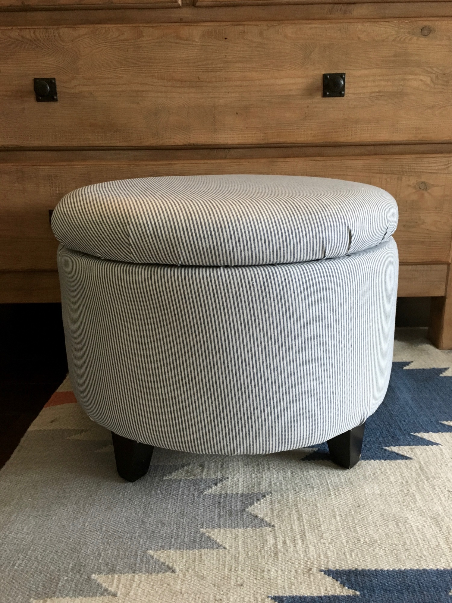 No Sew Storage Ottoman DIY — Girl on the Hudson