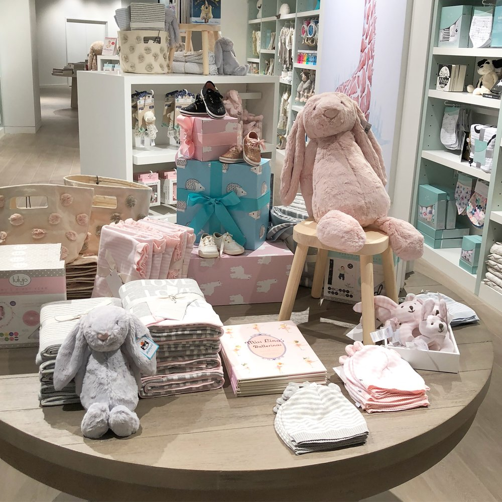 A peek at the baby section of the store, which is beyond adorable.