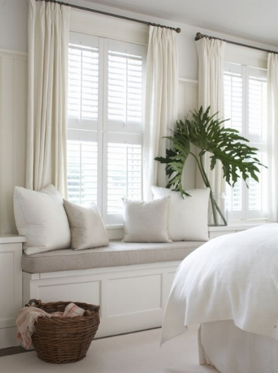 Sometimes all it takes is switching out darker tones for neutrals and whites! (Photo by  House Updated )