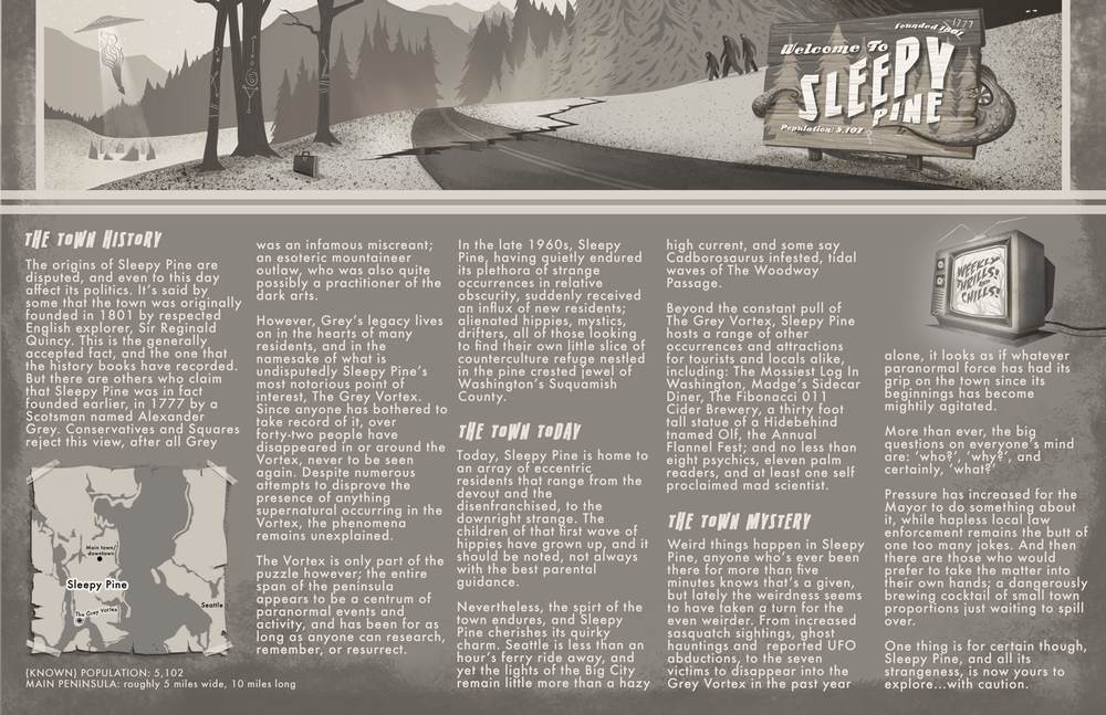 Sleepy Pine: Town History and Info