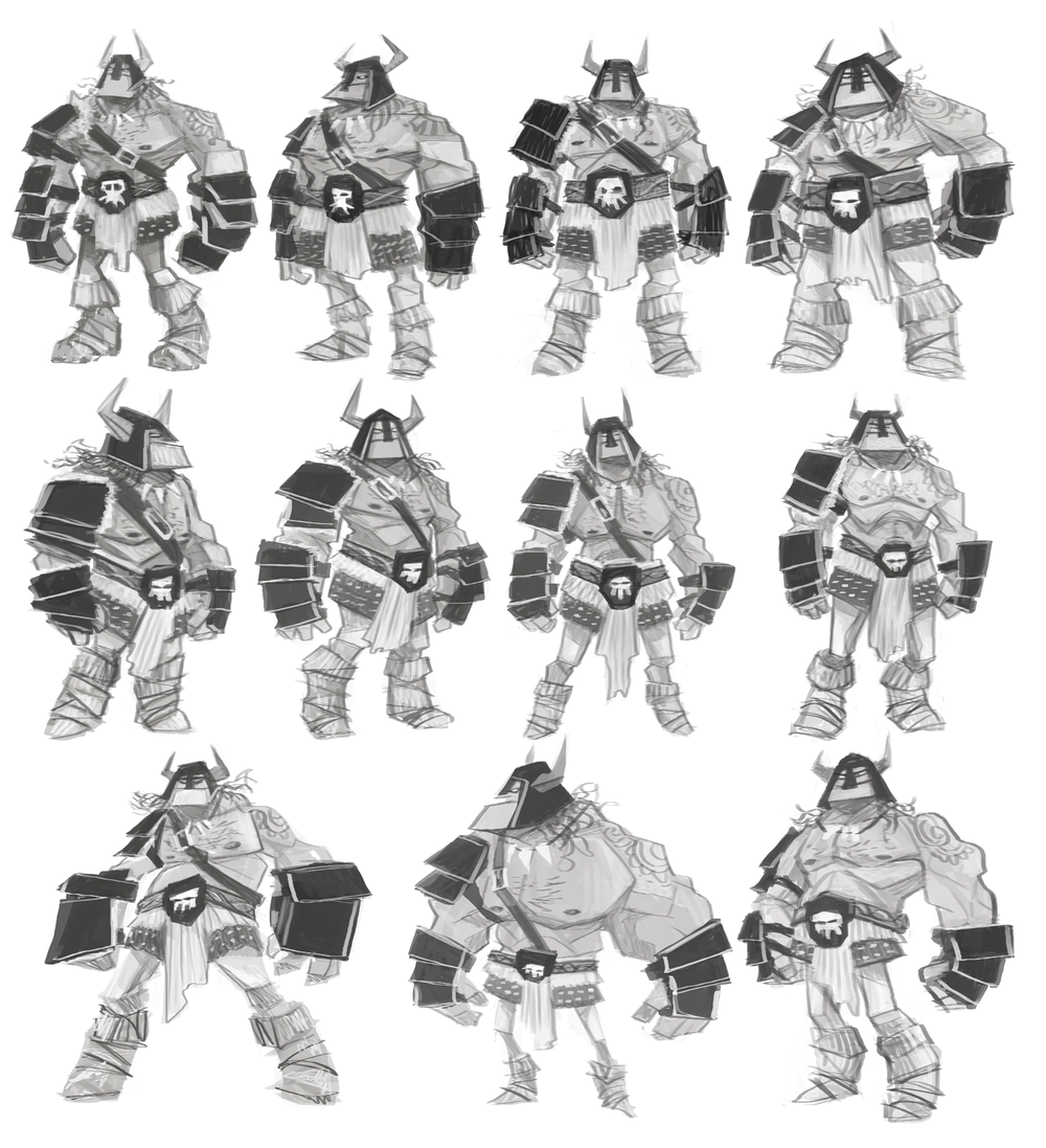 'Boss' initial character sketches