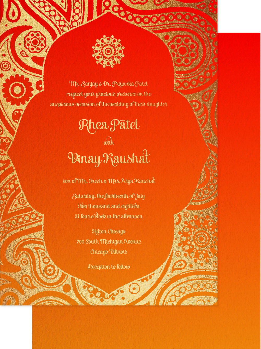 invitation front and back