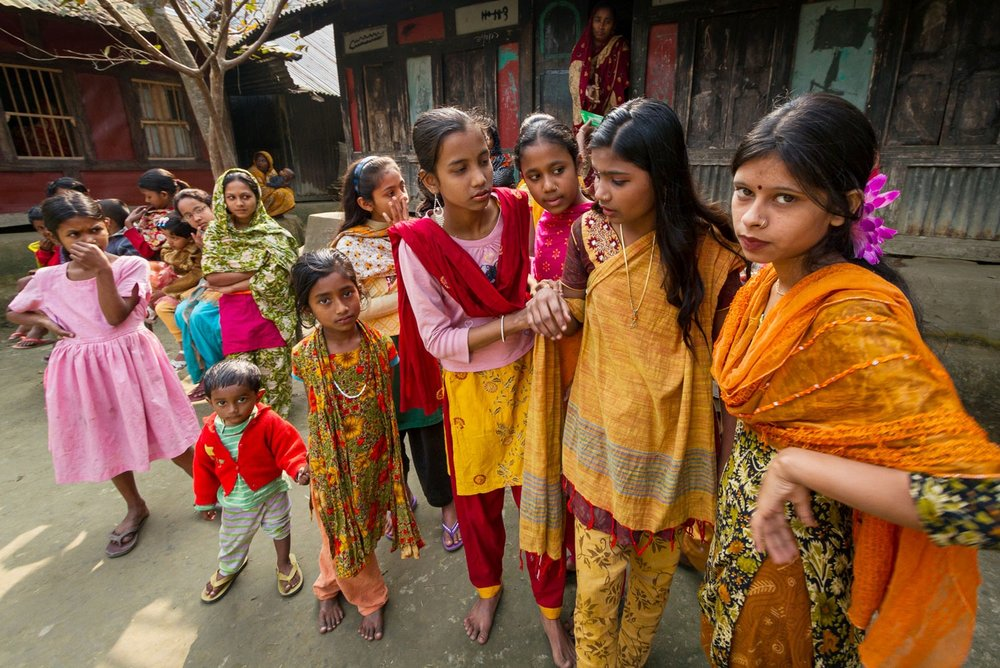 On the sidelines at the girls' club; Bangladesh