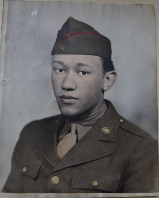 Waverly Woodson's first Army portrait.  Photo: Courtesy of Joann Woodson