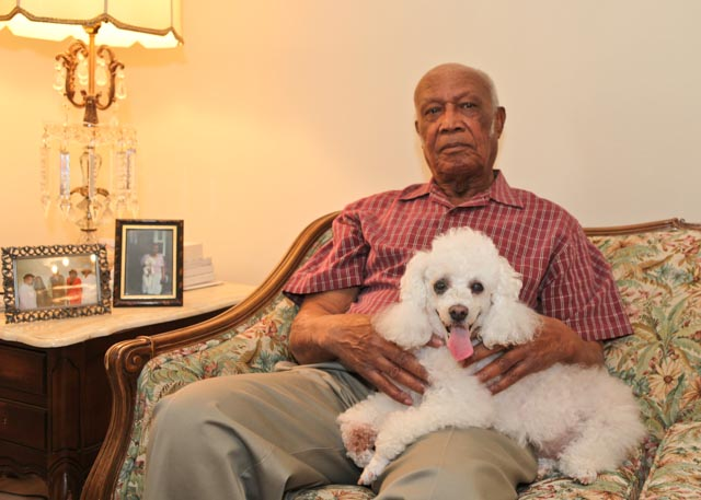 Willie Howard is pictured at home in Washington in 2011 with his dog, Buffy. Photo: Linda Hervieux