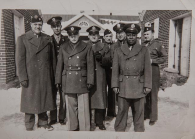 First Lt. Theodore Corprew poses with other officers in February 1943 at the Army's Medical Field Service School at Carlisle Barracks in Pennsylvania. Photo: Courtesy of Barbara Corprew