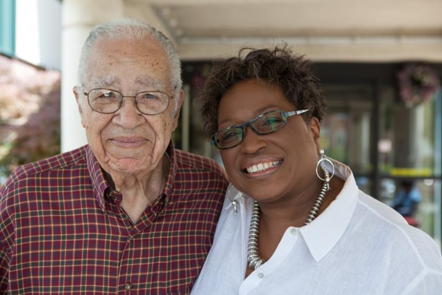 "Barbara Corprew is pictured in 2011 with Dr. Alvin Robinson, a longtime friend of her father, Theodore Corprew. After the war, Corprew shared few details of his service. ""Most of those guys who were in the service, they didn't want to talk about it,"" Robinson said. Photo: Linda Hervieux"