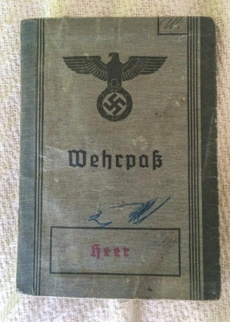Malchi Adkins found this German passport in Normandy. Photo: Courtesy of Adkins family