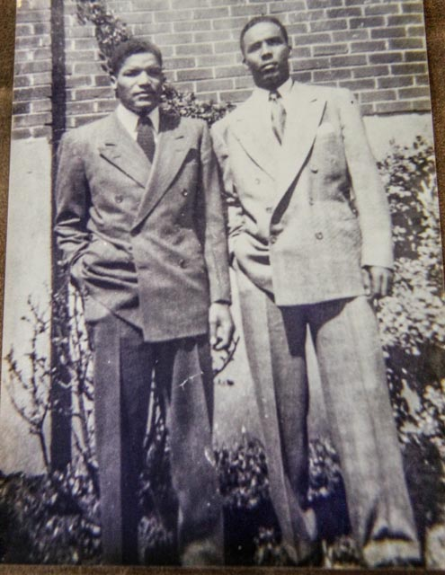 William Dabney (left) poses with a cousin in this undated photo. Photo: Courtesy of William Dabney