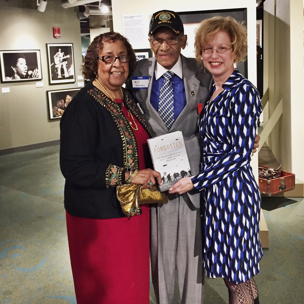 Linda Hervieux was joined by William and Beulah Dabney at the Harrison Museum of African American Culture in Roanoke, Va.