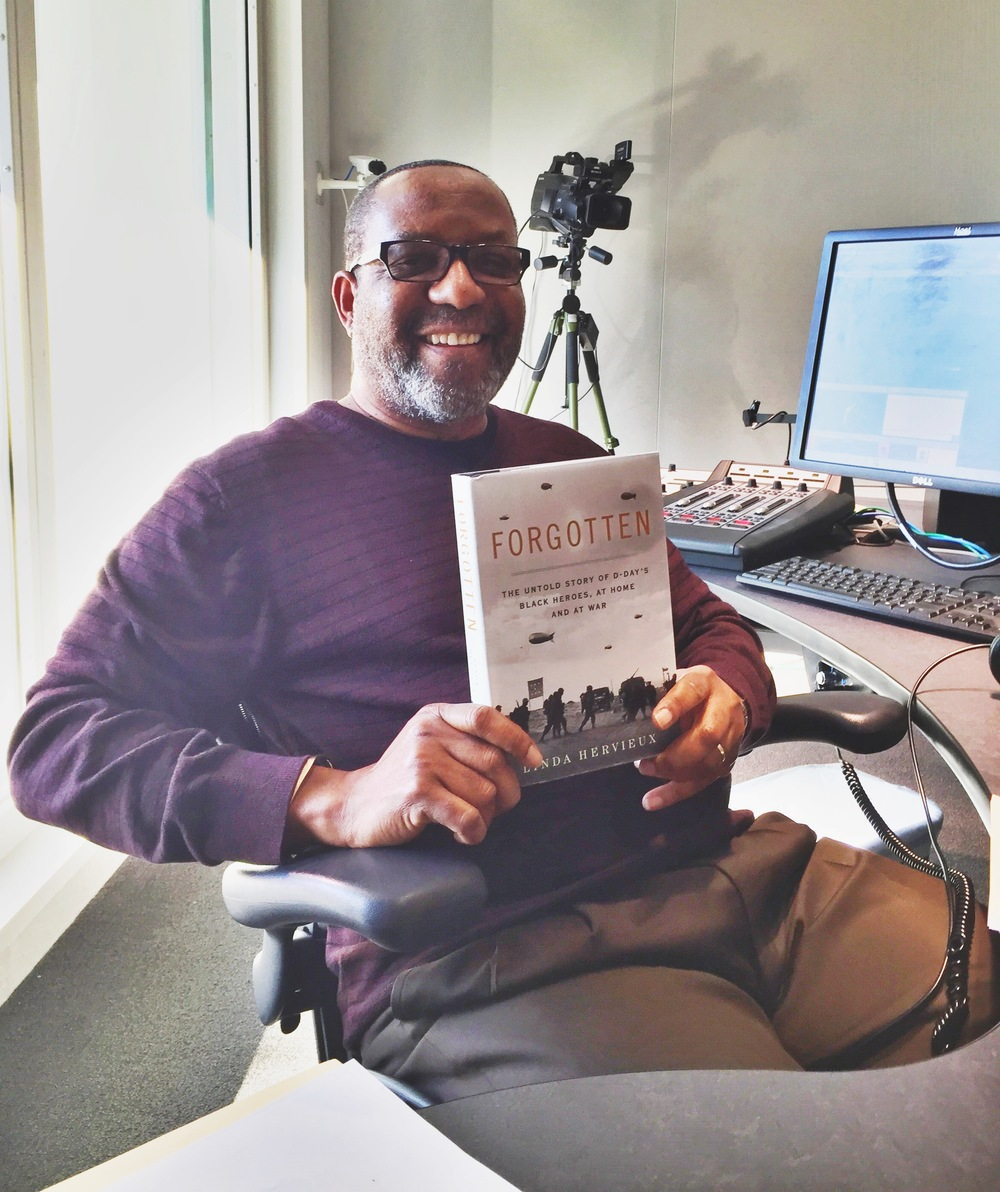 Linda snapped this iphone shot on the fly that hardly does justice to radio host Kojo Nnambdi, who was kind enough to invite Linda on his WAMU show to discuss the issues raised in FORGOTTEN. His producer said they got the most listener calls in recent memory.