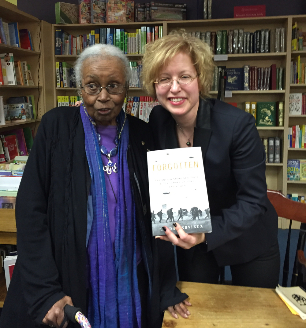 Ruth Edmonds Hill asked Linda to sign a copy of FORGOTTEN.