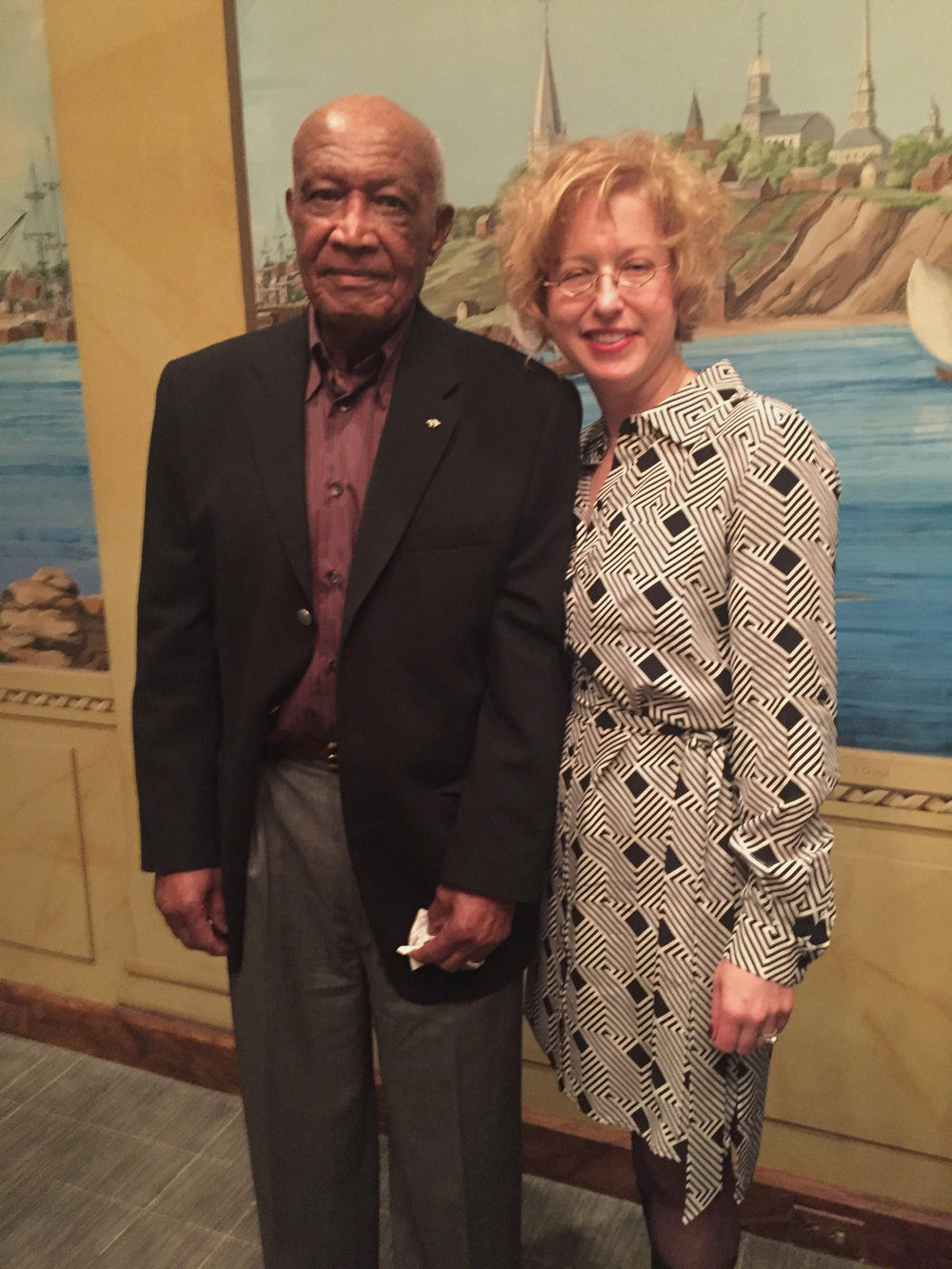 "Willie O. Howard poses with Linda Hervieux at an event for ""Forgotten"" on Feb. 24, 2016, at the Motion Picture Association of America in Washington, DC."