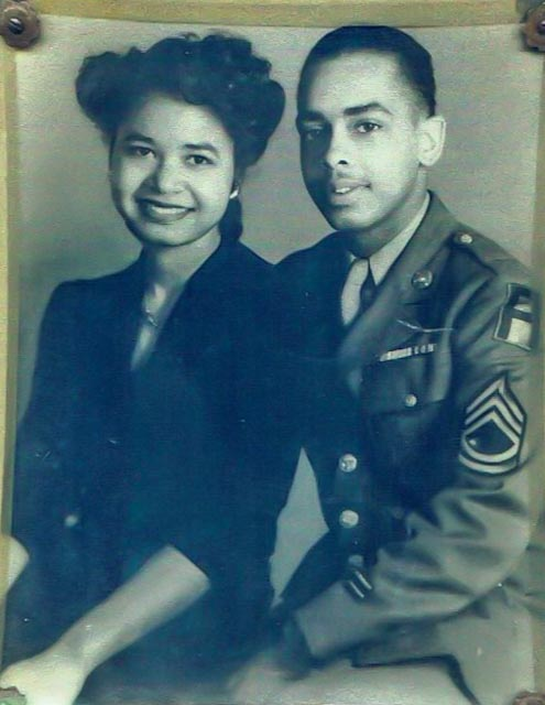 Allen Jay Coles, Jr., married his sweetheart Marion while on furlough in December 1944, after the Normandy campaign.