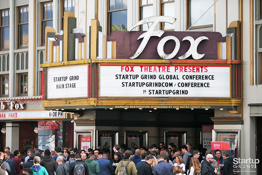 Startup Grind Main Stage at the Fox Theater in Silicon Valley
