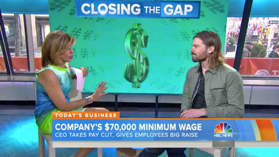 Dan Price interviewed by Hoda Kotb on NBC Today