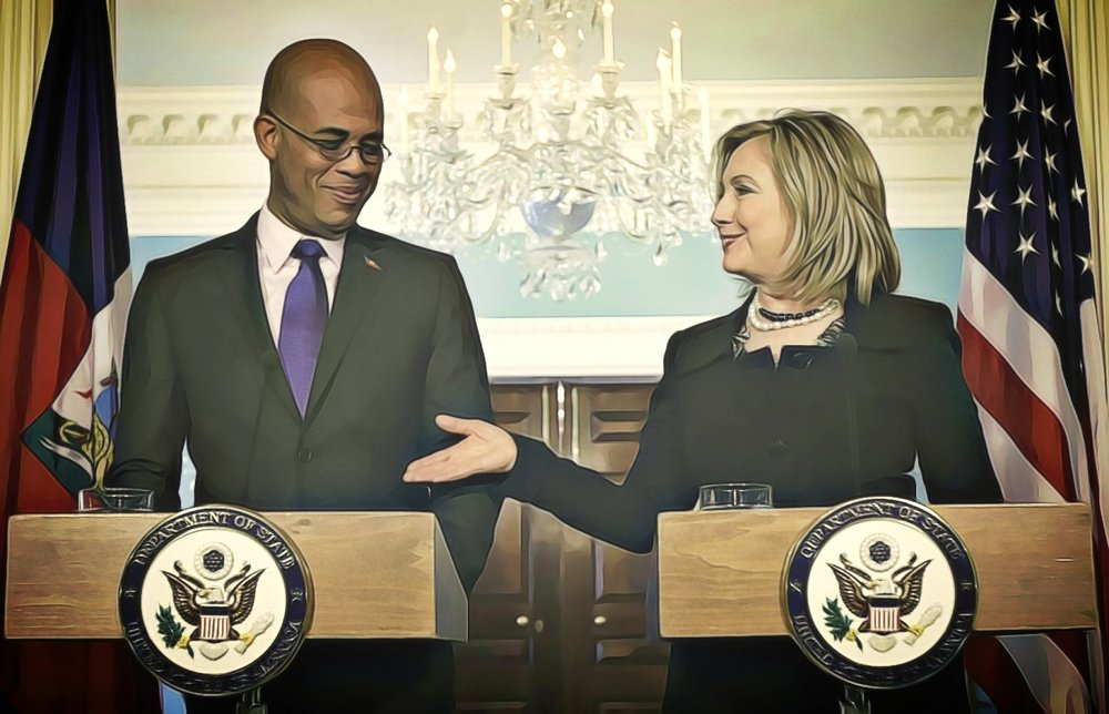 Martelly and Clinton 2011, Alex Brandon/Associated Press