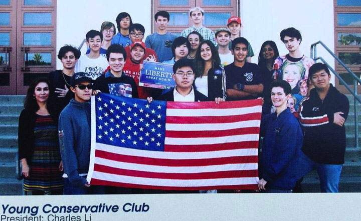 Charles Li founded the Young Conservative Club at South Pasadena High School (Photo courtesy / Charles Li.)