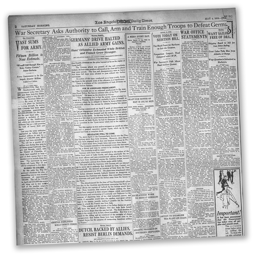 The Times circa January 1918 reported on suffrage