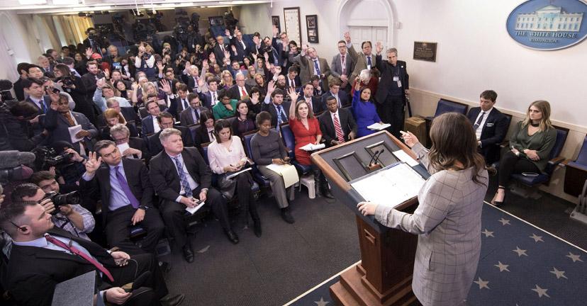 White House press briefing, 2018. (Photo / White House Correspondents' Association)