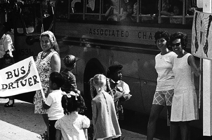 Pasadena busing after desegregation mandate in 1970 (Photo/Unknown)