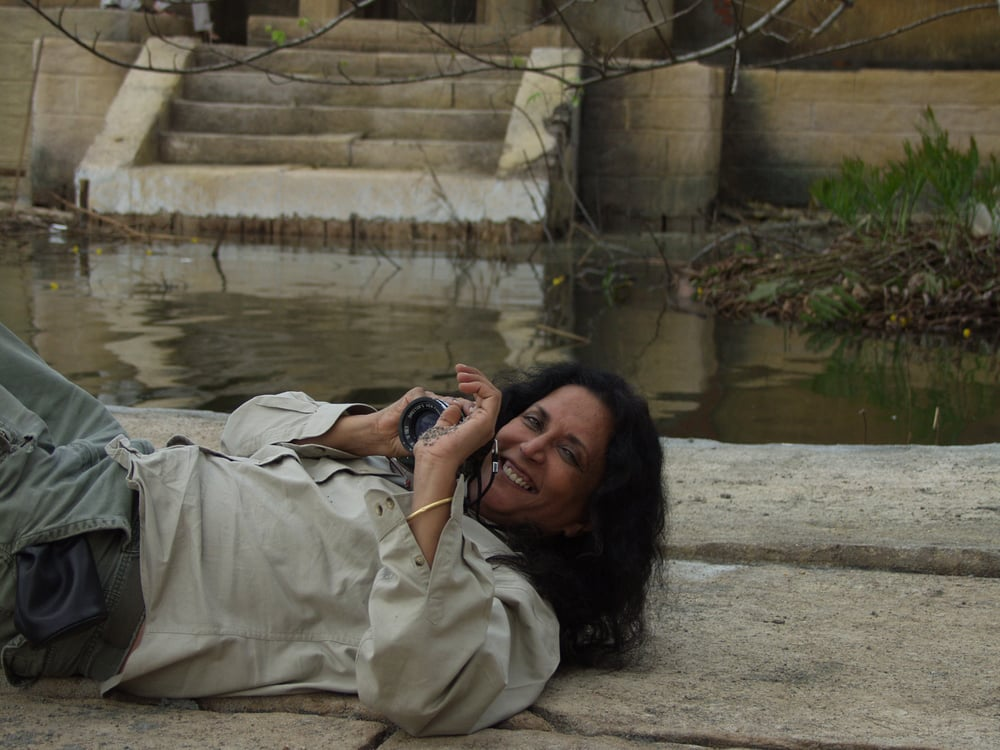 Water - Deepa on Ghats.JPG