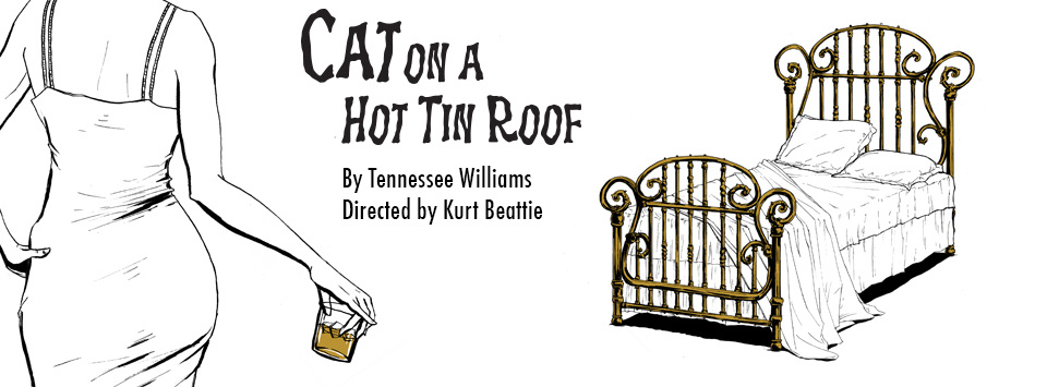 Illustration collateral for ACT Theatre's production for Cat On A Hot Tin Roof