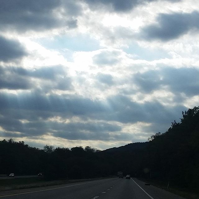 We spotted these sunbeams raining down on our drive and thought they might brighten your day. :)