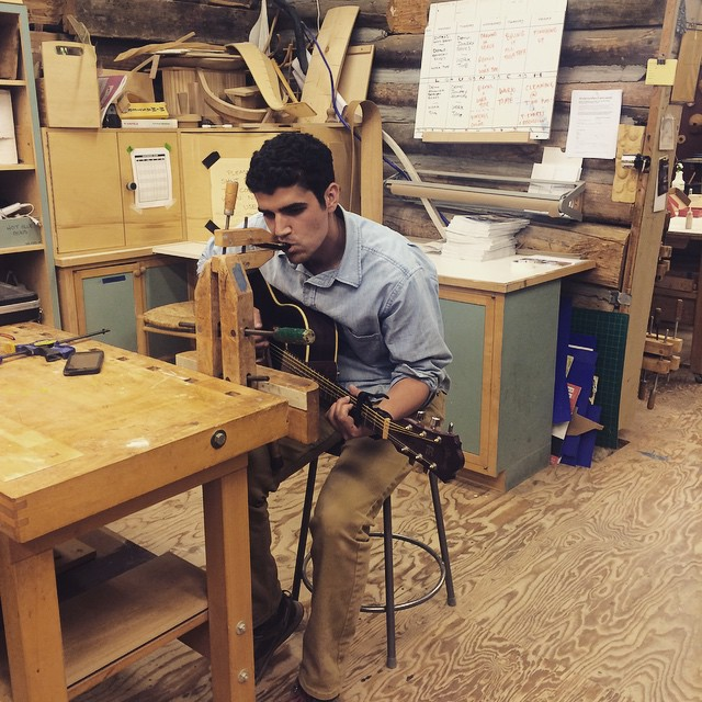 Some late night motivational music in the wood shop. #AndersonRanch