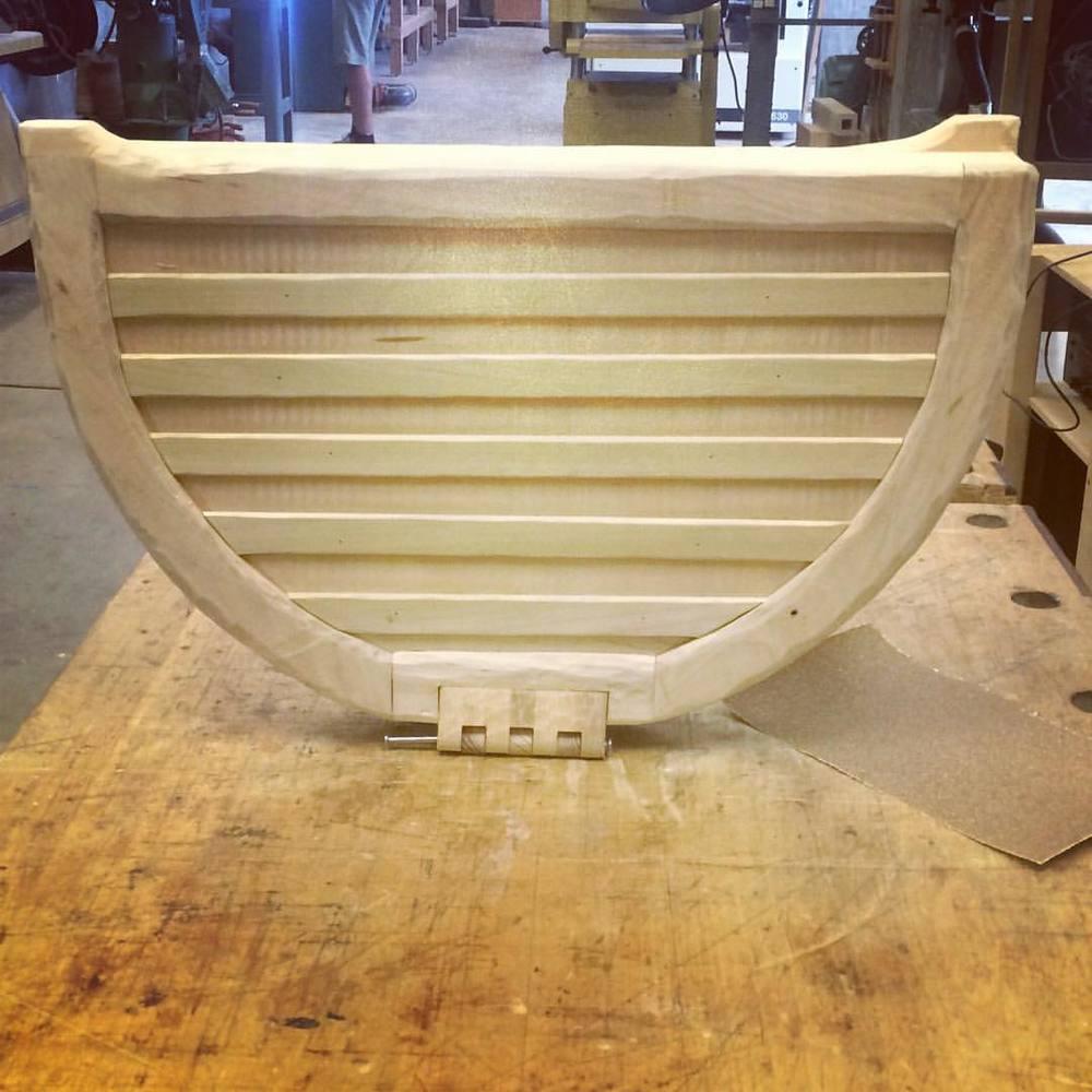 My latest piece #woodworking #sofachicago #uselesstools