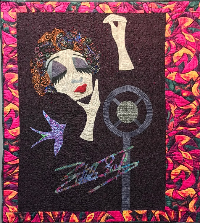 'Edith Piaf'  With WonderFil Eleganza™, Sue Spargo Dazzle™ and quilted with Tutti™