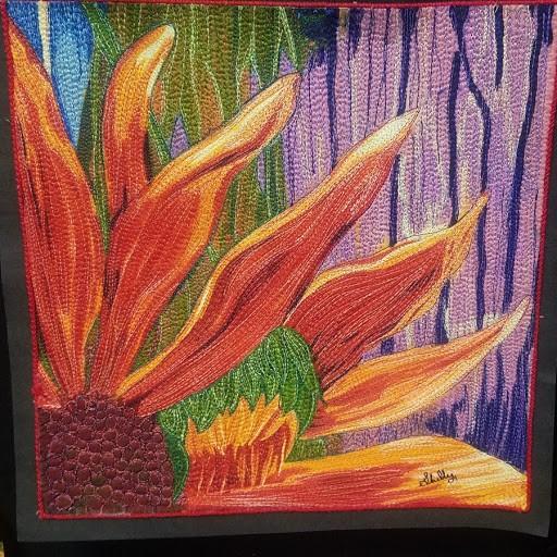 Thread Painted Flower