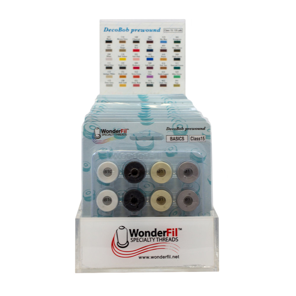 DECOBOB™ PRE-WOUND BOBBINS COUNTERTOP DISPLAY