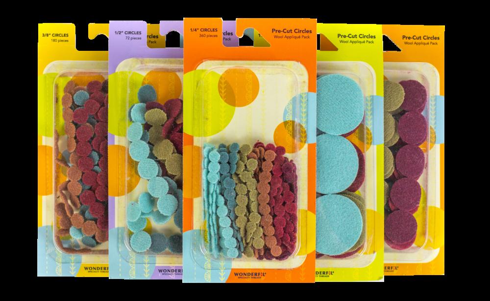 Sue Spargo Pre-Cut Wool Applique Circle Packs