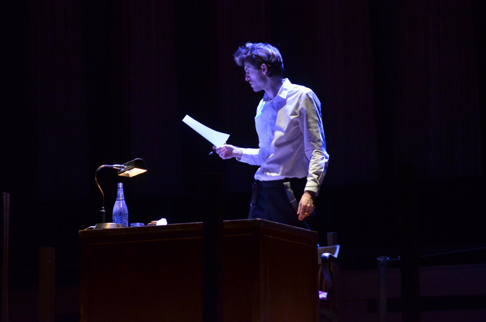 Bradley Christensen as the Writer. Photo: Nicola Betts