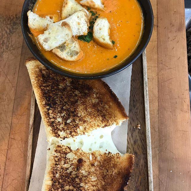 Perfect pairing #grilledcheese #tomatobisque #nofilter #yumyum #eeeeeats #getsome
