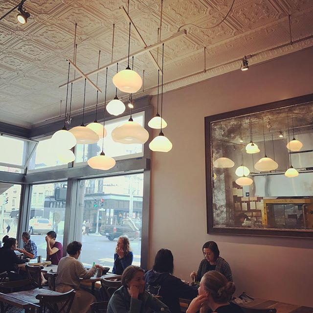 Lunch time with our new light fixture 😍#decor