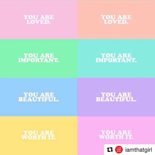 #Repost @iamthatgirl ❤️you are #loved #important #beautiful #worthit ✨you are G O O D 🌈 #FindYourGood