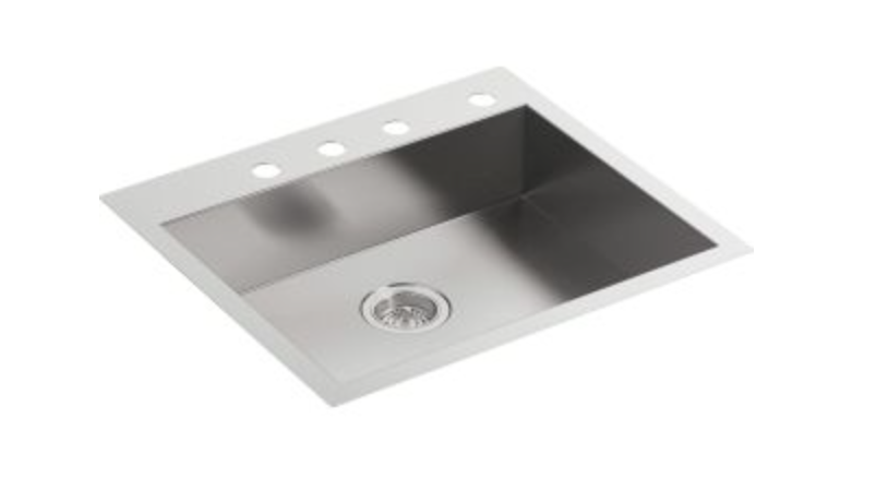 "Kohler Vault 25"" Single Basin Dual Mount Kitchen Sink, $494.25"