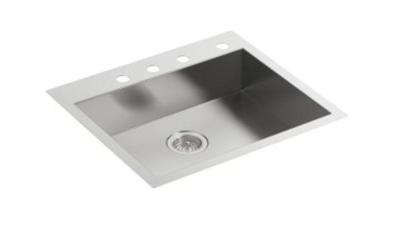 "Kohler Vault 25"" Single Basin Dual Mount Kitchen Sink, $494.25"
