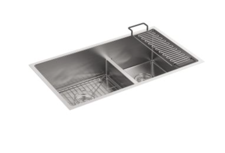 "Kohler Strive 32"" Double Basin Undermount Kitchen Sink, $749.25"