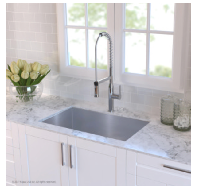 "Kraus Kitchen Sink 30"" Single Basin Undermount Kitchen Sink, $269.95"
