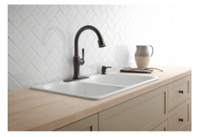 "Kohler Hartland 33"" Double Basin Drop-In Kitchen Sink, $249.50"