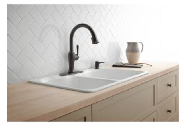 """Kohler Hartland 33"""" Double Basin Drop-In Kitchen Sink, $249.50"""