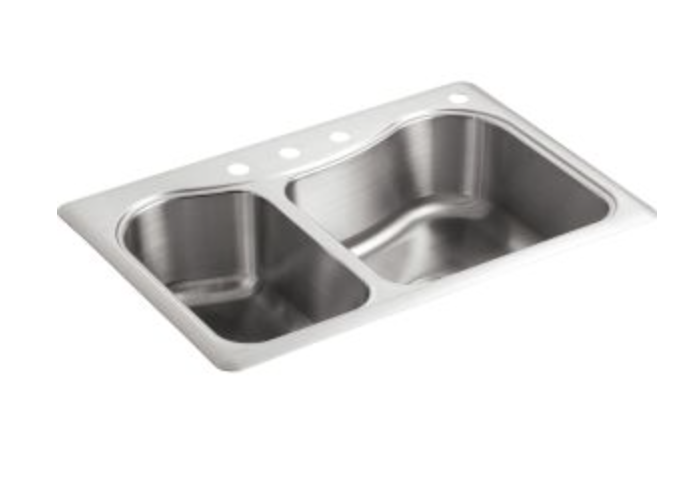 "Kohler Staccato 33"" Double Basin Drop-In Kitchen Sink, $205.51"