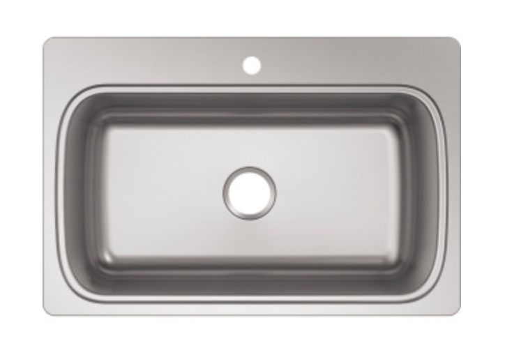 "Kohler Verse 33"" Single Basin Drop-In Kitchen Sink"