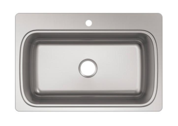 """Kohler Verse 33"""" Single Basin Drop-In Kitchen Sink, $151.81"""