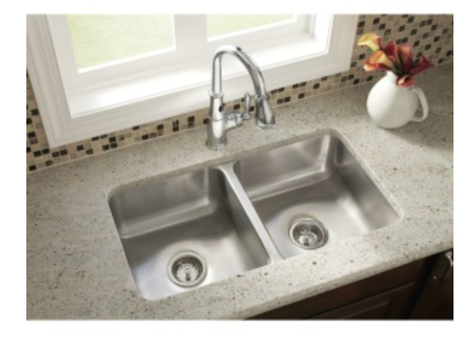 "Moen 2000 Series 31-1/4"" Double Basin Undermount Kitchen Sink"